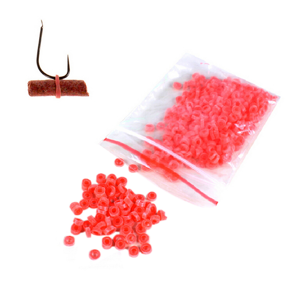 2500Pcs Red/Yellow Fish Tackle Rubber Bands For Fishing Granulator Bait Bloodworm Bait Fishing Accessories