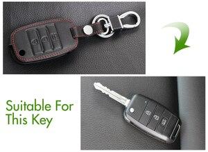 Image 3 - Funda de cuero genuino para llave, cubierta para llave para Kia KX3 KX5 K3S RIO 4 Ceed Cerato Optima K5 Sportage Soul Sorento, estilismo para coche