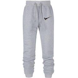 Для мужчин джоггеры бренд мужской мотобрюки брюки, тренировочные брюки в повседневном стиле Jogger серый повседневное эластичный хлопок
