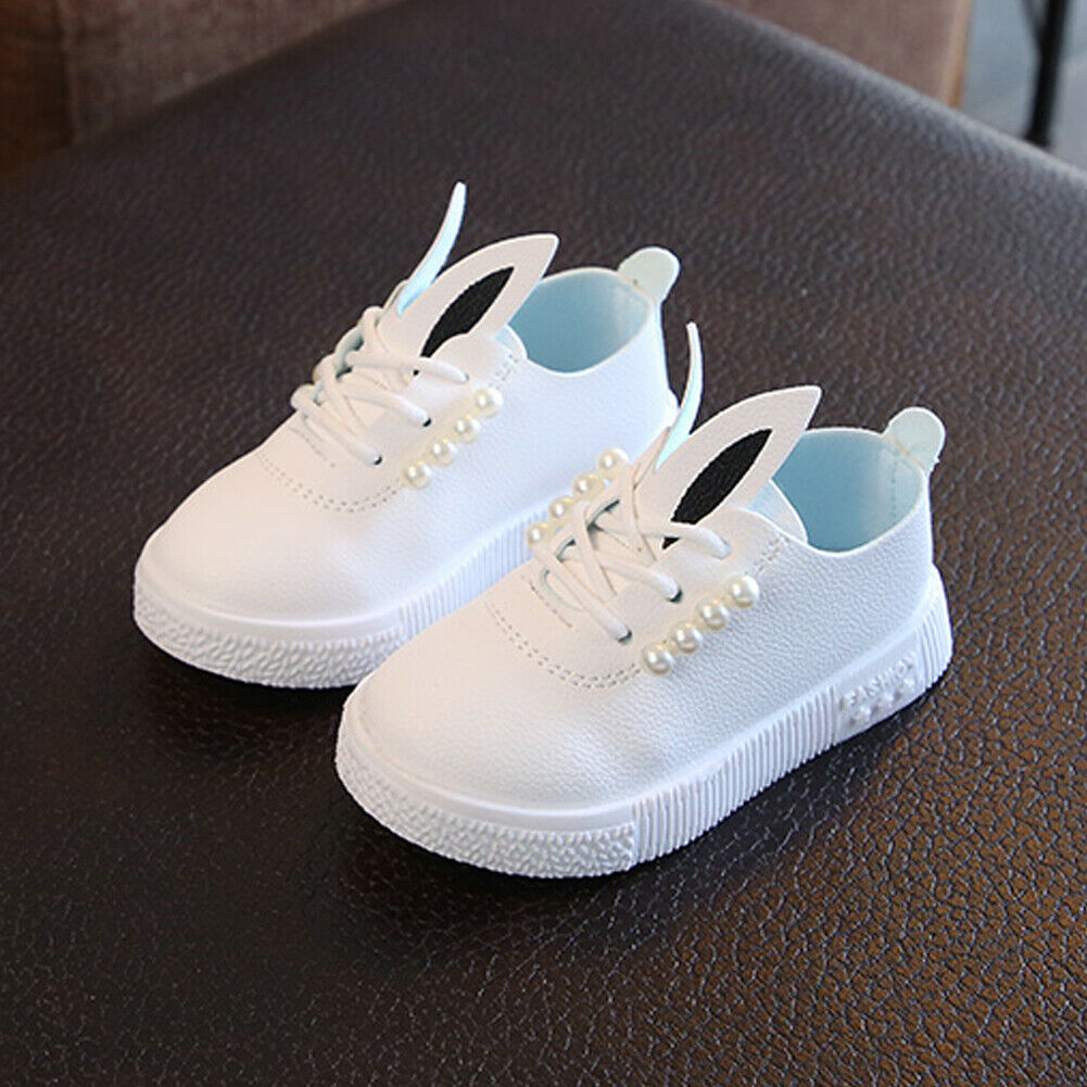 Emmababy  Fashion Rabbit Baby Girls Casual Microfiber Leather Pearls Shoes