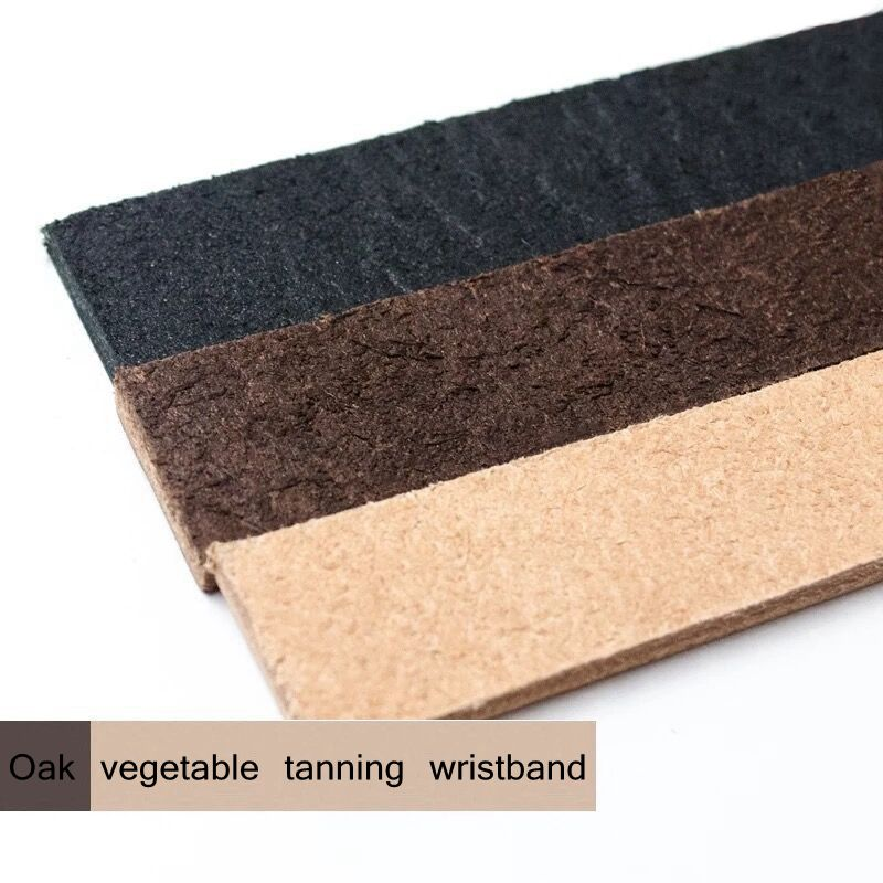 Leather Art Craft Oak Vegetable Tanning Wristband For DIY Material Genuine Leather Cuff Bracelet Thickness About 3.5mm