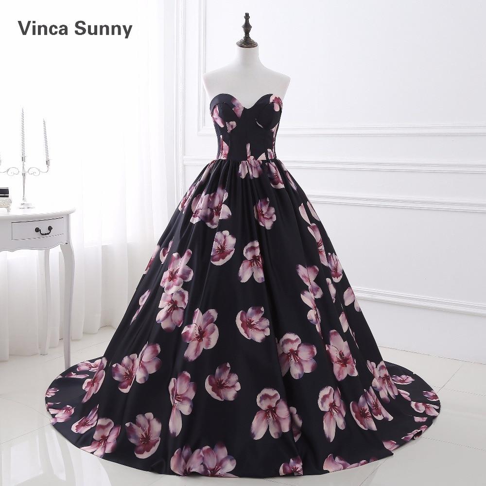 Vinca Sunny Elegant 2018 Nya Prom klänningar med tryckmönster Off - Särskilda tillfällen klänningar