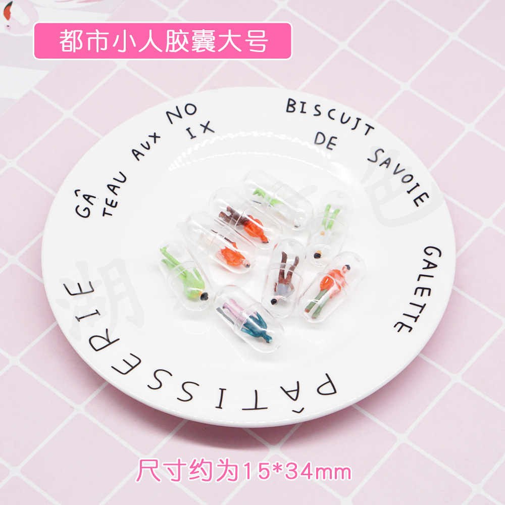 60pcs Transparent Capsule Shell Plastic Pill Container Medince Pill Cases Bottle Splitters Capsule Figurines DIY Accessories