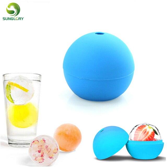 Мороженого ball плесень виски коктейль силикона сфере круглый шар для льда Куб чайник Форма для партии Бар кухня Инструменты
