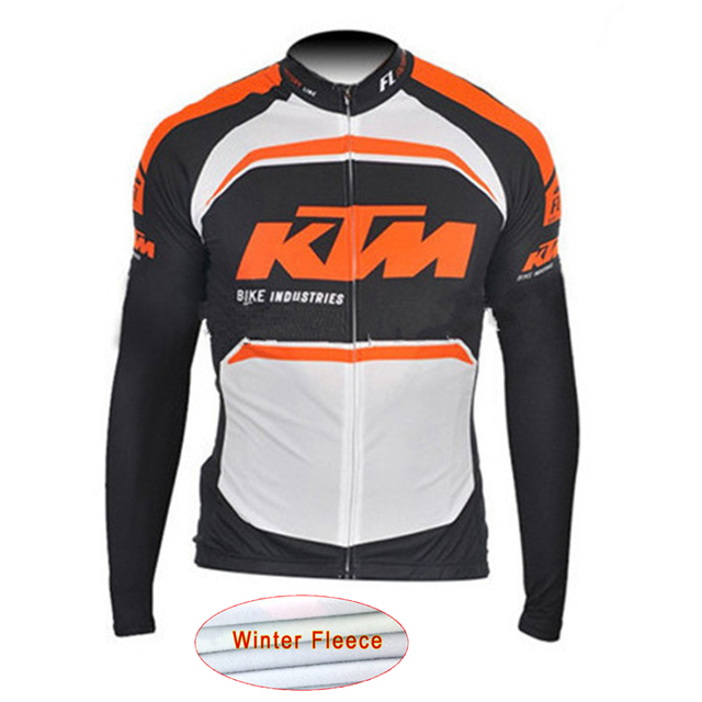 2018 Pro Team KTM Ciclismo Jersey Invierno Polar manga larga racing bike  ropa maillot ropa ciclismo