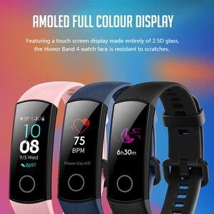 """Image 4 - Oryginalny Huawei Honor Band 4 5 inteligentne nadgarstek Amoled kolor 0.95 """"ekran dotykowy Swim postawy wykrywania tętna snu przystawki"""