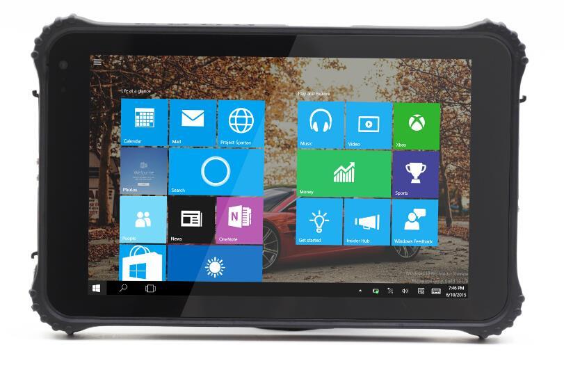 Оригинальный Windows 10 шт. 8 Промышленные Прочный планшетный ПК IP65 водонепроницаемый телефон 2 г Оперативная память GPS 1D 2D лазерной сканер Штрих...
