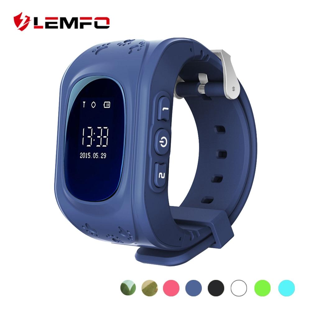 LEMFO Kinder Uhren SOS Anruf Q50 Kinder Uhren GPS Track Uhr Lage Tracker Smart Uhr für Kinder Jungen Mädchen