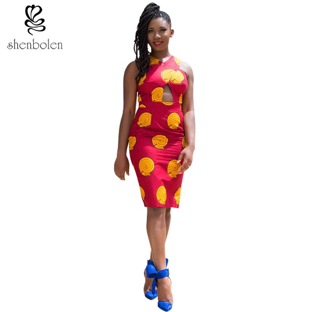 Afrikanische damen mode wachs druck kleider 2016 dame sexy party ...