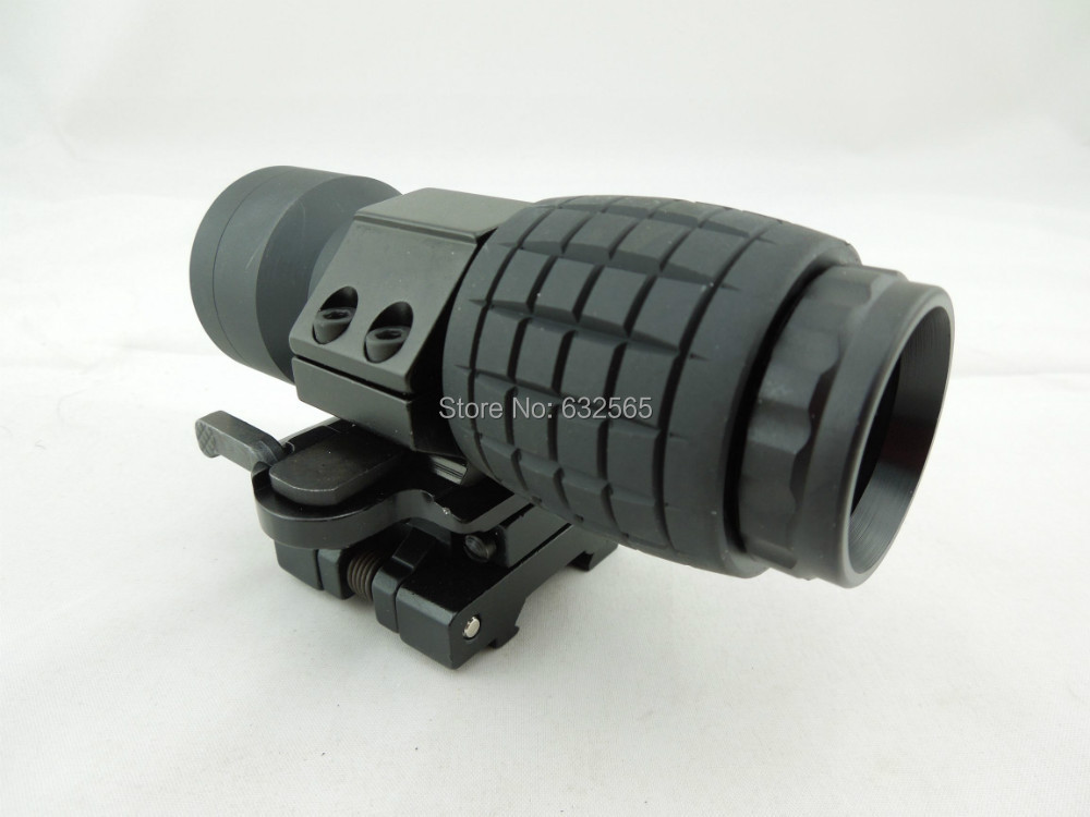 Tactical Hunting Shooting 3x Magnifier Red Dot Scope Fits Aim Sight with QD mounts for weapon kit gun st 5339 tactical gun holographic rifle scope ap style 3x magnifier with qd twist ris weaver mount for hunting