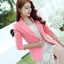 Plus Size S-2XL Lady Blazer 2016 Long Sleeve Elegant  Blaser Female Fashion Jacket Office Wear Autumn Women Blazer A8082