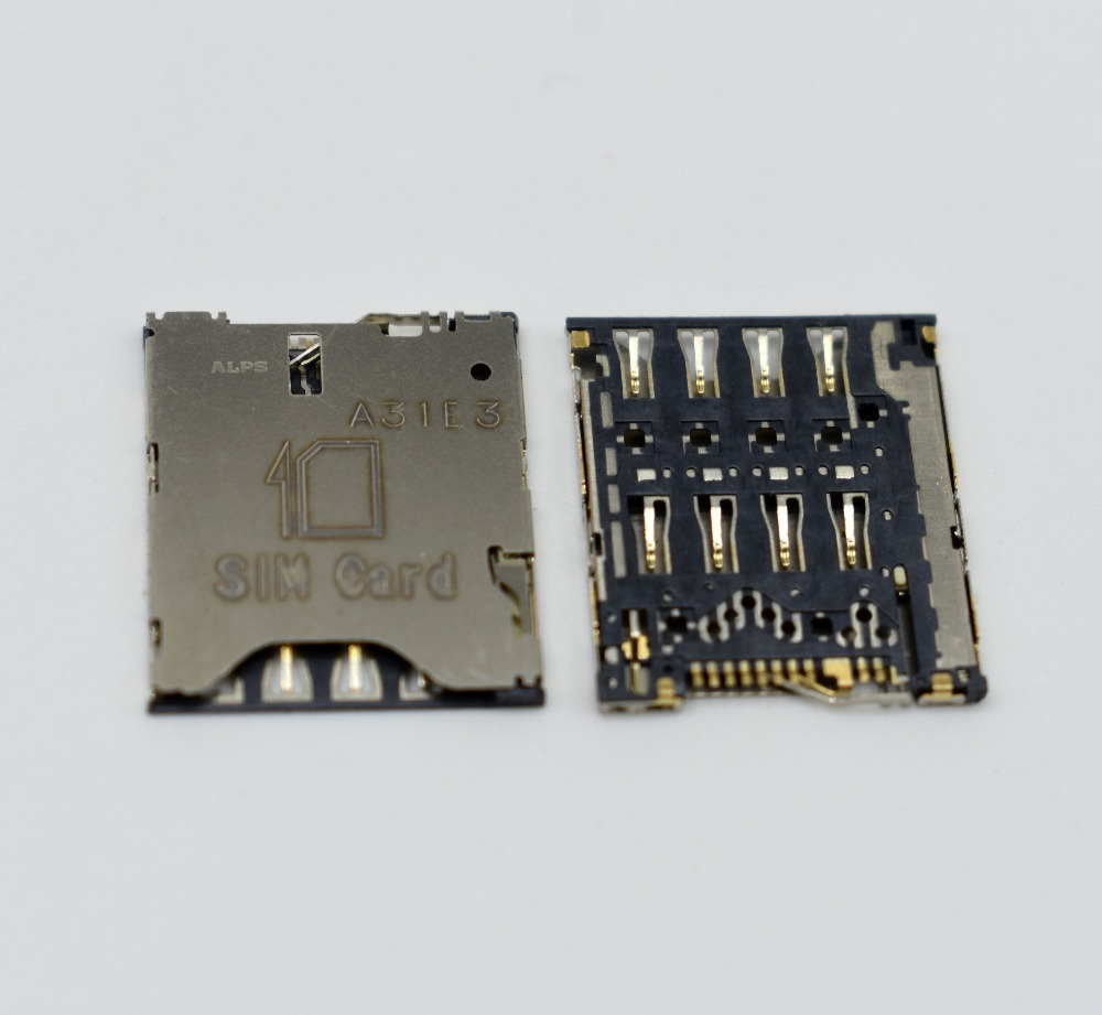 10pcs/lot Free shipping SIM Card Slot Reader Holder Connector SIM Card Socket for htc ONE S Z520e T528T T528W T528D