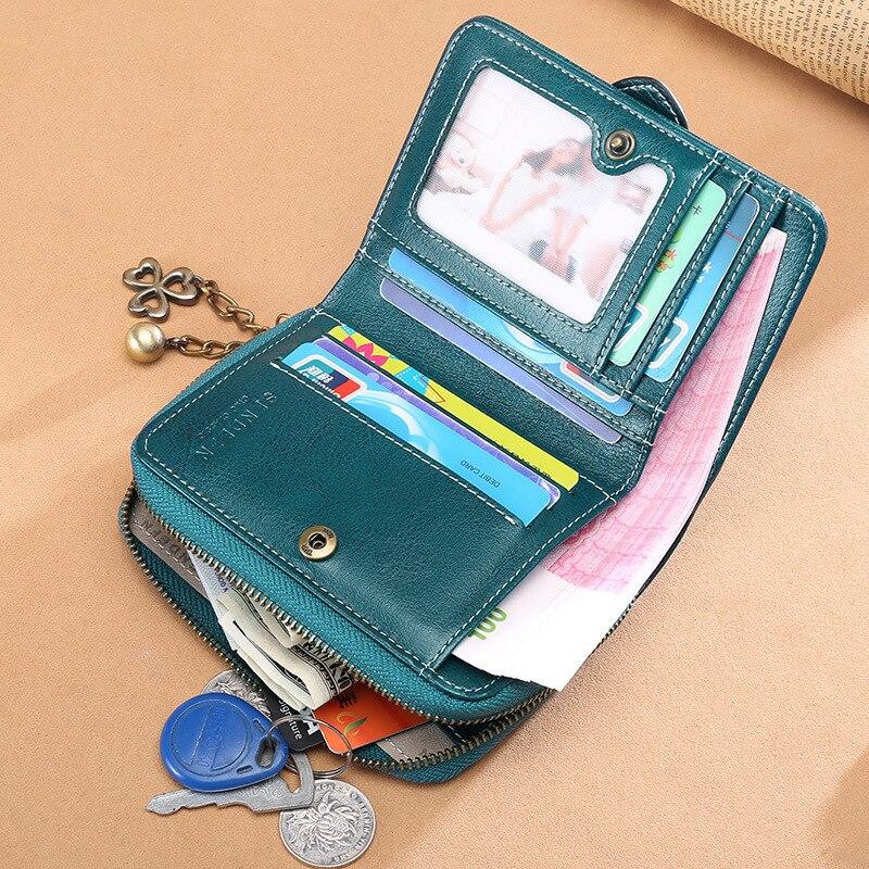 Sendefn 2018 nya kvinnors plånbok nya läder plånbok kvinnliga kort - Plånböcker - Foto 3