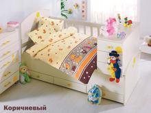Комплект постельного белья для новорожденных ALTINBASAK, VAK VAK, коричневый