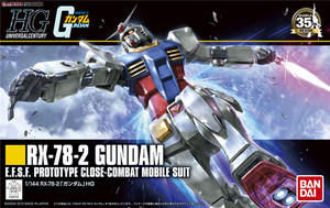 Image 1 - Bandai Gundam 96716 HGUC 191 1/144 RX 78 2 Mobile Suit assemblare kit modello Action Figures modello in plastica