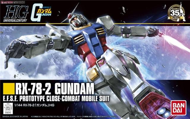 Bandai Gundam 96716 HGUC 191 1/144 RX 78 2 Mobile Suit assemblare kit modello Action Figures modello in plastica