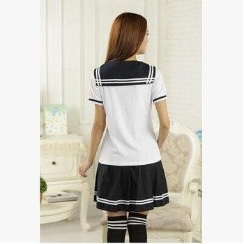 Япония и Южная Корея студентки британский военно-морской академии школьная форма костюм для досуга костюм моряка футболка плиссированная ...