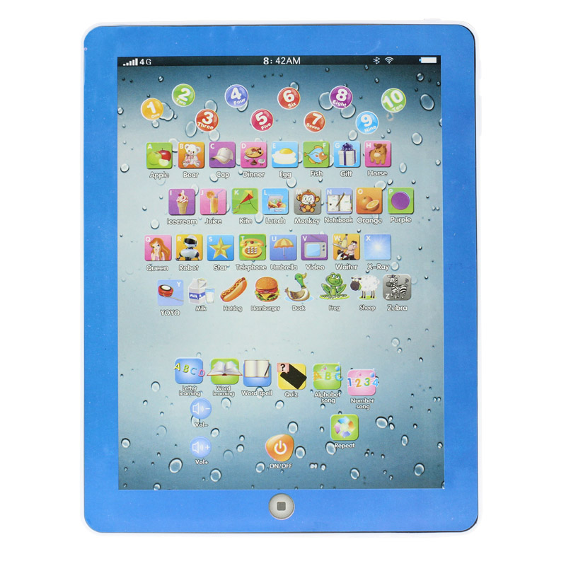 3 Color Child Touch Type Computer Tablet English Learning Study Machine Toy Great