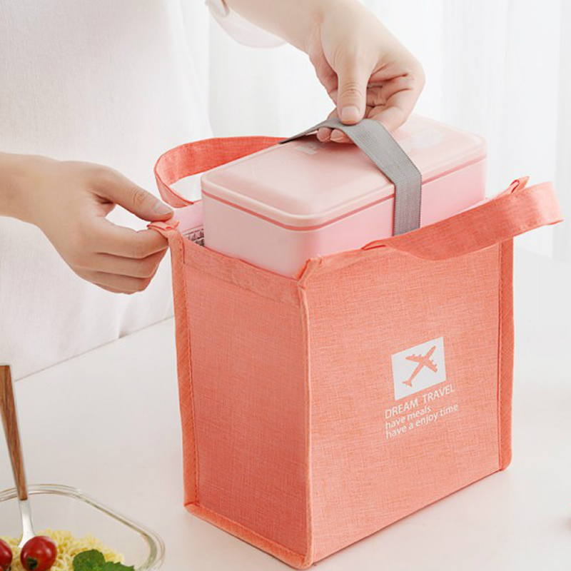 Fashion Lunch Bag Thermal Insulated Food Fresh Bento Office Picnic Cooler Drink Children's Travel Organizer Ice Pack Accessories