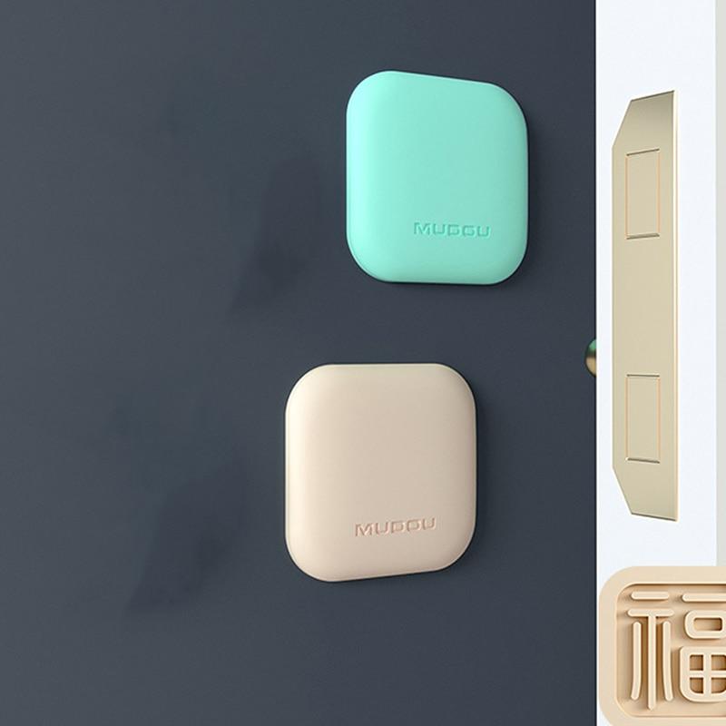 4pcs/set Anti-collision Door Handle Anti-collision Pad Door Wall Refrigerator Door Silicone Protection Anti-collision Cushion
