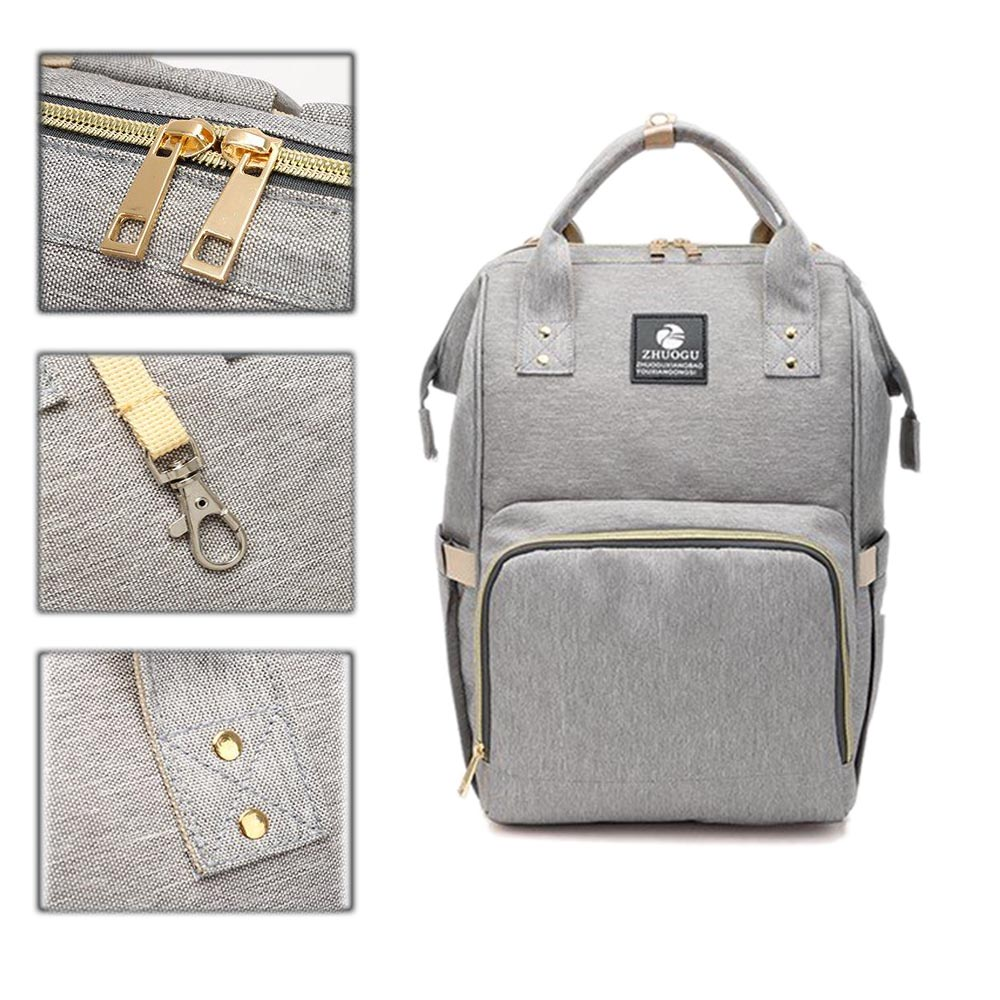 Baby Diaper Bags Backpack Baby Multi-Function Travel Large Capacity Nappy Nursing Mom Waterproof Shoulder Zippered Handbag