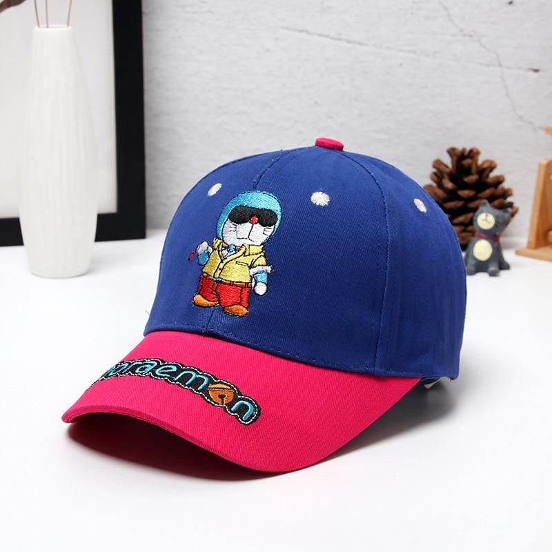 Boys Girls DORAEMON Snapback Hat 2018 New Japanese Anime Embroidery Doraemon Baseball Caps Children Adjustable Hip-Hop Hats