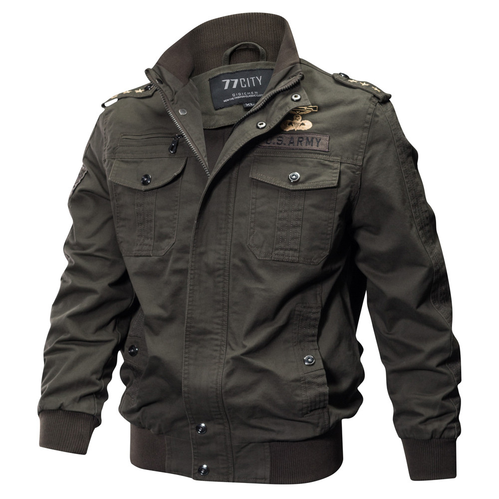 Jacket Men's Autumn Winter Military Male Clothing Casual Pocket Tactical Outwear Breathable Coat High Quality Brand Fashion