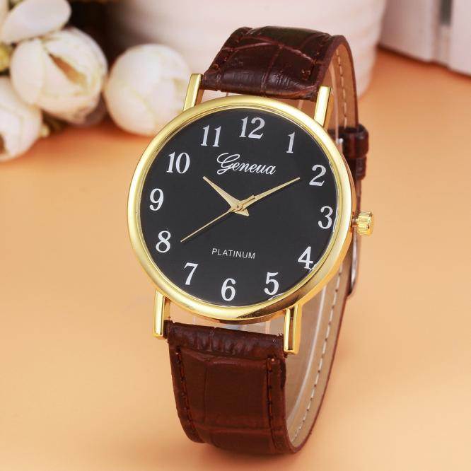 Vico New Retro Design Leather Band Analog Alloy Quartz Wrist Watch Ladies dress relogio feminino watches women women watches superior women s retro rainbow design leather band analog alloy quartz wrist watch fashion relogio feminino feb13