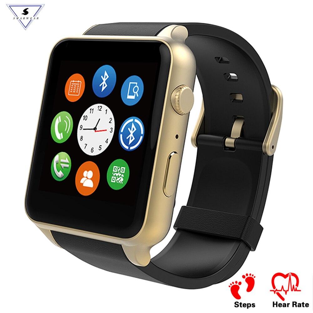 100% Original Bluetooth Monitor De Freqüência Cardíaca à prova d' água relógio Inteligente GT88 Smartwatch Suporte do Cartão SIM Para IOS Android pk apple watch