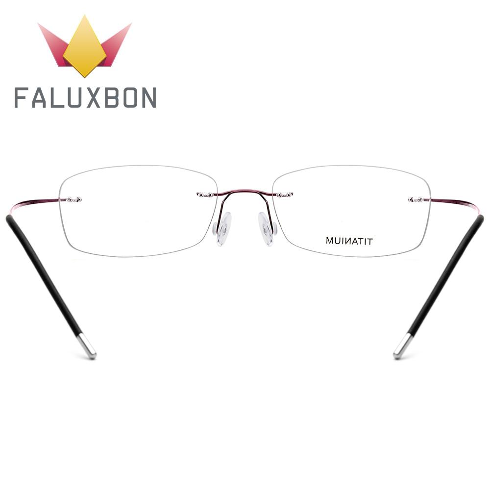 Optische Legierung Transparente Myopie c2 c3 C1 Ultraleicht Schraubenlose Brillen Randlose Rechteck Frauen Titan za4Wqp
