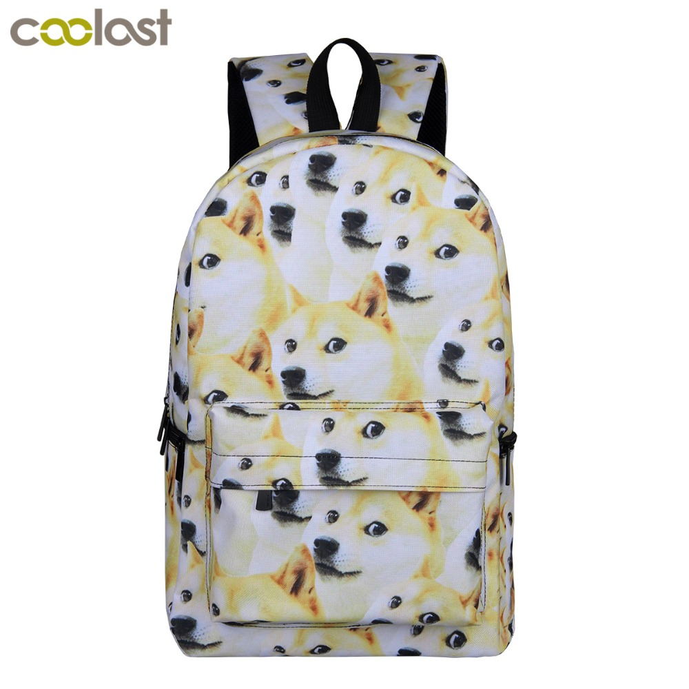 Cool Dog Shiba Inu Backpacks For Teenagers Girls Boys School Bags Young Women Men Travel Bag Unicorn Children School Backpack