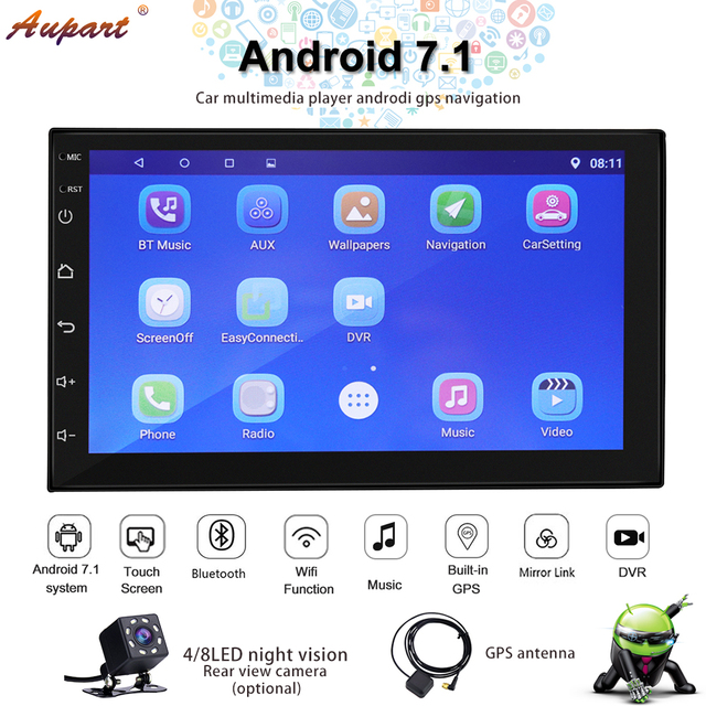 Navigation 2 din car radio gps android double din radio car stereo better than dvd/cassette 2din autoradio with rear view camera