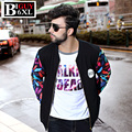 Plus Size 4XL 5XL 6XL Cool Print Cotton Mens Baseball Jackets 2016 Fashion Casual Slim Fit Men Spring Jackets And Coats 374