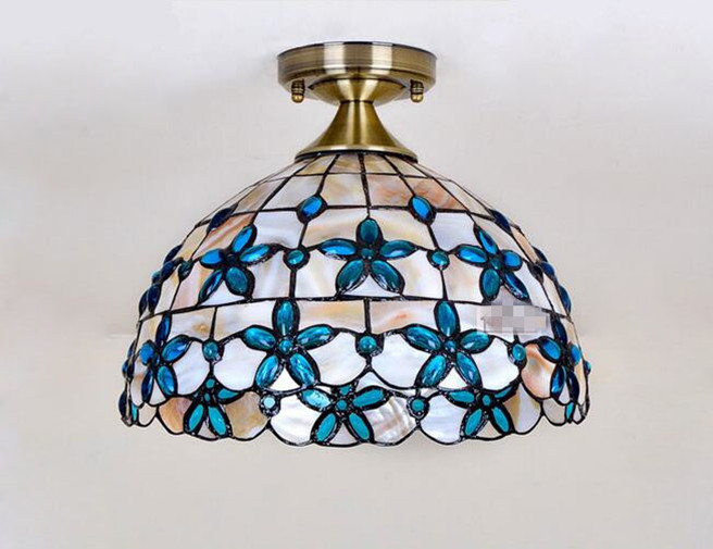 Blue Lilac Ceiling Light 17