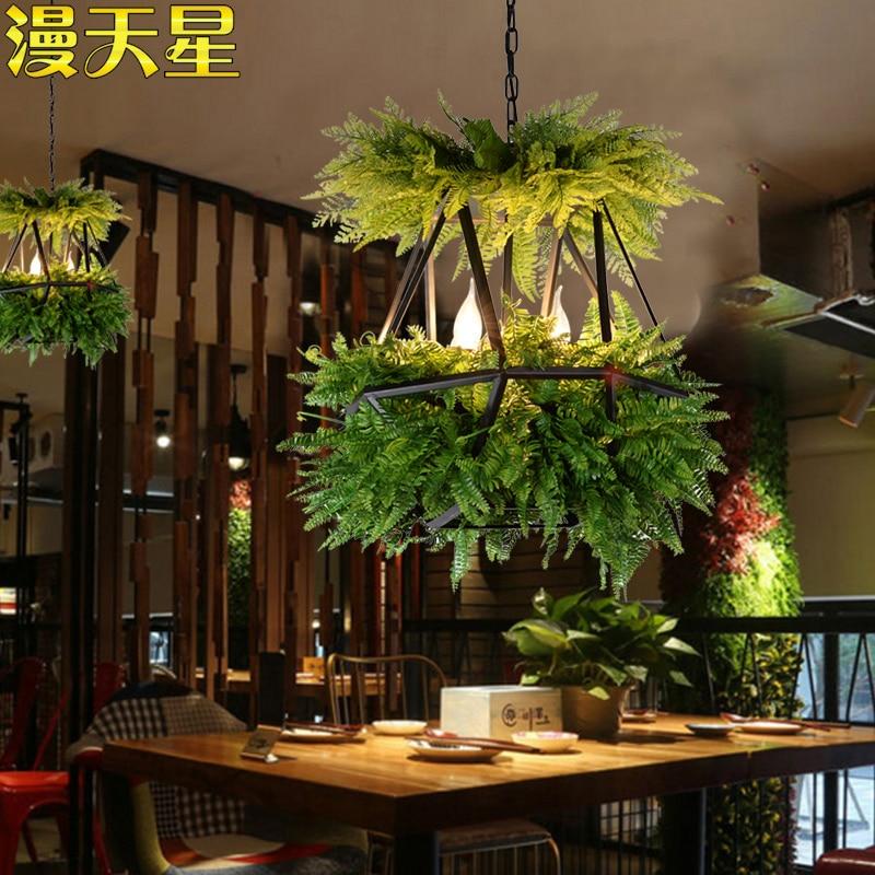Image 3 - LED Hanging Gardens of Babylon Plants Lamp Pots Potted Nordic Tom Creative Chandelier Lighting Bulb Art Pendant Lamp With Bulb-in Pendant Lights from Lights & Lighting
