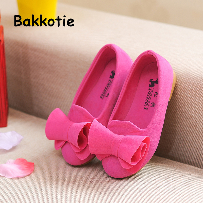 Bakkotie 2018 Spring New Fashion Baby Girl Bow Shoe Children Pu Leather Princess Flat Kid Sweet Brand Party Mary Jane