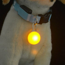 Pet Dog Safety LED light Push Button Switch Glow Pendant For Dogs Collar, The Dark Bright Decoration Collars Dogs-Multicolor