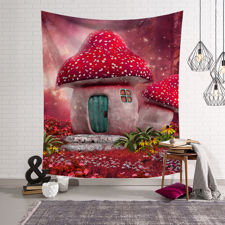 Nordic Bedroom Decorating Wall Tapestry Hanging Cloth Background Beautiful Forest Fabric Wall Hanging Tapestry Decor Polyester in Tapestry from Home Garden