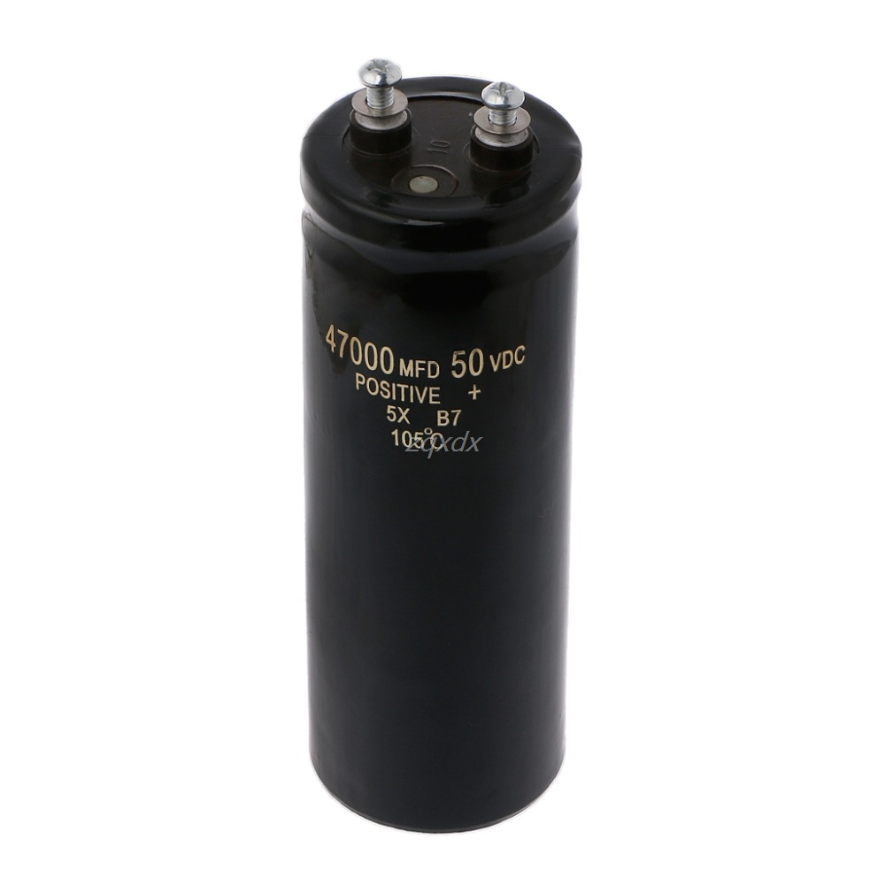 50V 47000UF/MFD Aluminum Screw Audio Filtering Electrolytic Capacitor 105 Degree JAN10 Whosale&DropShip