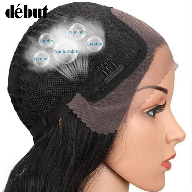 Debut Wig Human Hair Lace Front Human Hair Wigs Brazilian Straight Remy Wigs For Black Women 4*4 U Part 26 Inch Long Wig