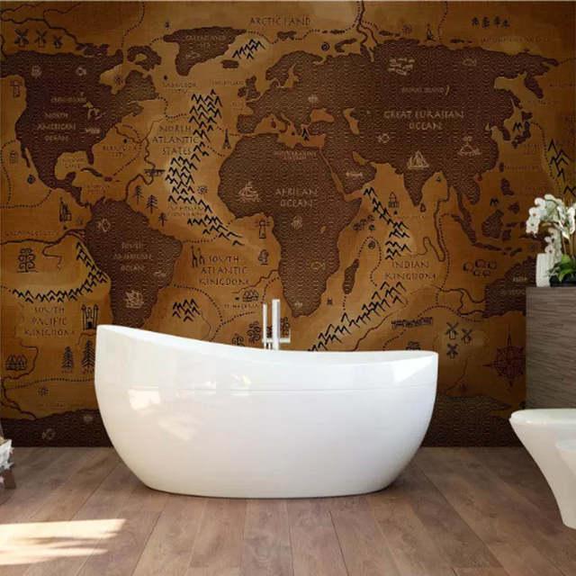Online Shop Custom photo wallpaper Large mural office world map