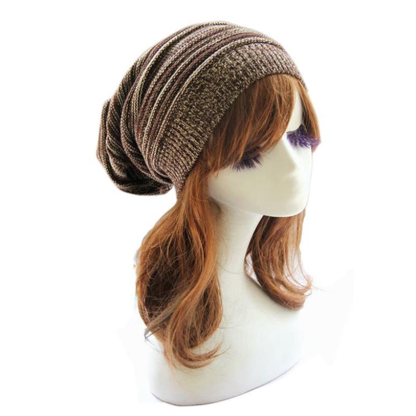 063002 Amazing Fashion Women Knit Baggy Beanie Cap Winter Warm Oversized Ski Cap Hat 5 Colors