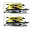 Golden MOTORCYCLE EMBLEM BADGE DECAL 3D TANK WHEEL LOGO FOR SUZUKI GSXR600 GSXR750 GSXR1000 2000-2015 STICKER