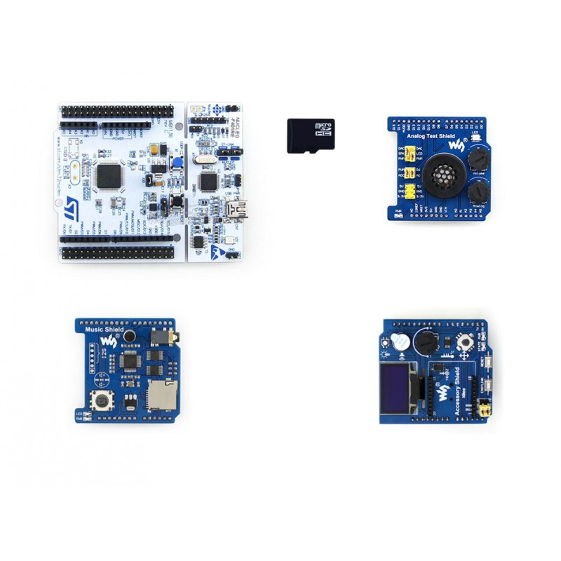 ФОТО NUCLEO-F401RE Package B = NUCLEO-F401RE+ Accessory Shield +Analog Test Shield +Music Shield   Free shipping