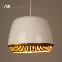 Современные светодио дный подвесные светильники E27 круглый белый деревянный обеденный легкого металла абажур подвесной светильник гладит