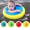 Dois uso do bebê anel da nadada do bebê inflável livre segurança bóia salva-vidas axila círculo das Crianças para 1-8 anos de idade do bebê
