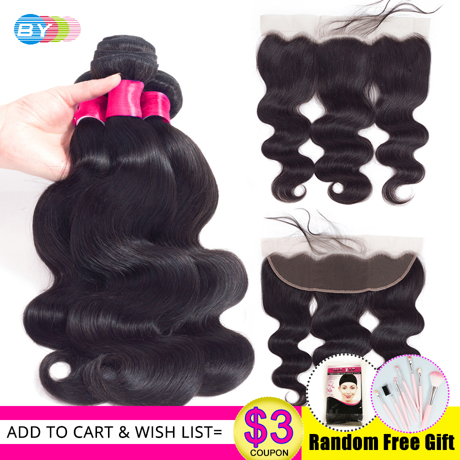 Body Wave Bundles With Frontal Swiss Lace HD Lace Frontal And Bundles Brazillian Hair Bundles With