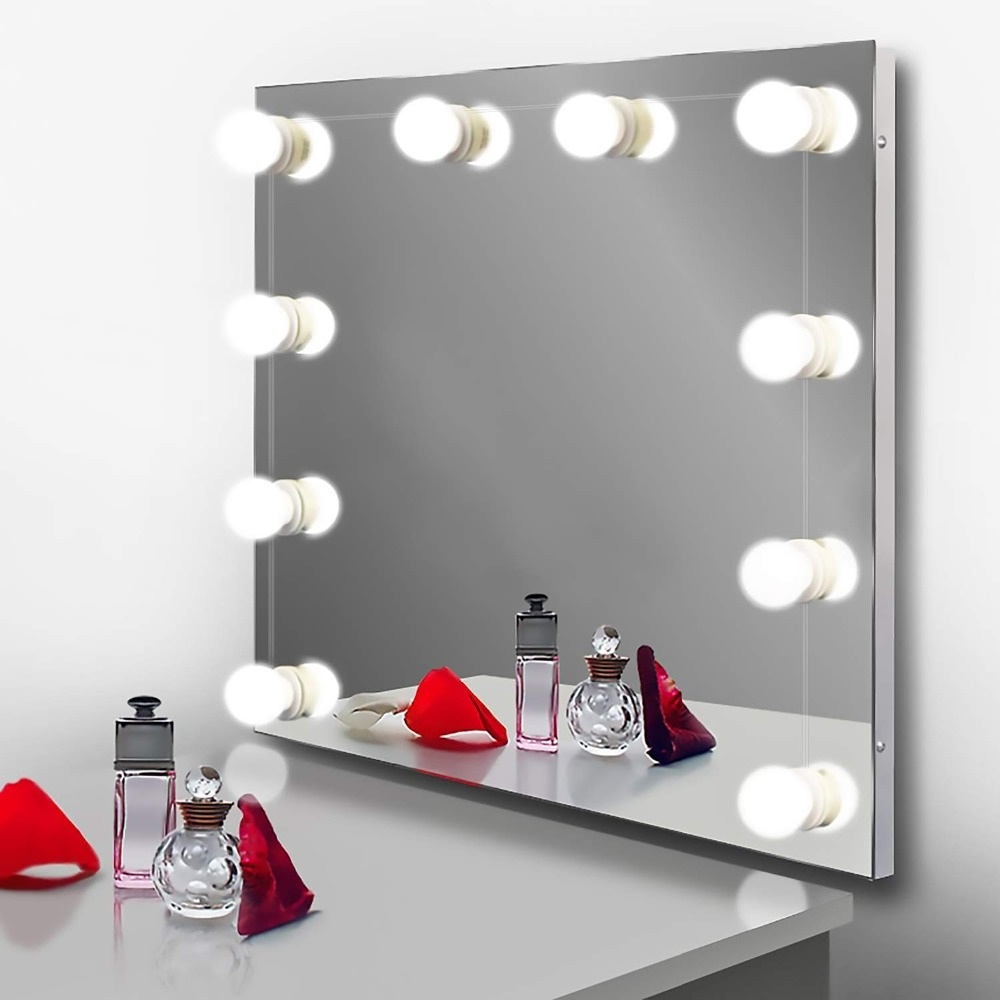 Us 13 59 15 Off Hollywood Style Led Vanity Mirror Lights Kit With Dimmable Light 10 Bulbs For Makeup Table Set In Dressing