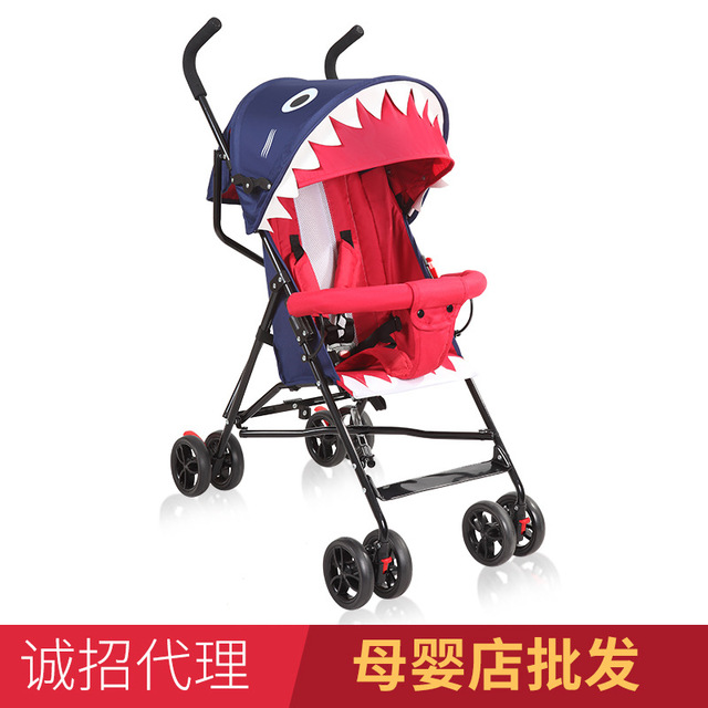 Baby stroller summer ultra light portable can sit semi-lying umbrella car child stroller folding simple baby stroller