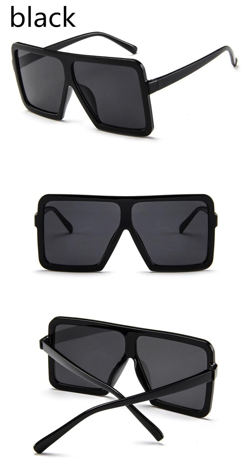 ASUOP2018 large frame new retro ladies sunglasses black radiation fashion men's glasses UV400 international luxury brand square goggles (12)